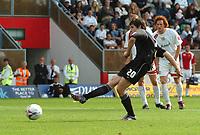 Photo: Ian Hebden.<br />Milton Keynes Dons v Hartlepool United. Coca Cola League 2. 09/09/2006.<br />Hartlepools James Brown misses a penalty.