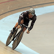 Simon Van Vel Thooven, New Zealand, in action during the Men Elite Team Sprint at the 2012 Oceania WHK Track Cycling Championships, Invercargill, New Zealand. 21st November 2011. Photo Tim Clayton