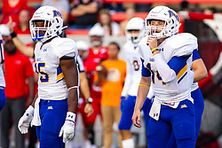 NORMAL, IL - September 07: Jovan Smith and Mark Pappas during a college football game between the ISU (Illinois State University) Redbirds and the Morehead State Eagles on September 07 2019 at Hancock Stadium in Normal, IL. (Photo by Alan Look)