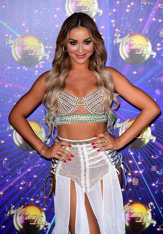 Luba Mushtuk arriving at the red carpet launch of Strictly Come Dancing 2019, held at BBC TV Centre in London, UK.