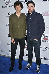 (L-R) Miles McMillan and Zachary Quinto arrives at Jessie Tyler Ferguson's 'Tie The Knot' 5 Year Anniversary celebration held at NeueHouse Hollywood in Los Angeles, CA on Thursday, October 12, 2017. (Photo By Sthanlee B. Mirador/Sipa USA)