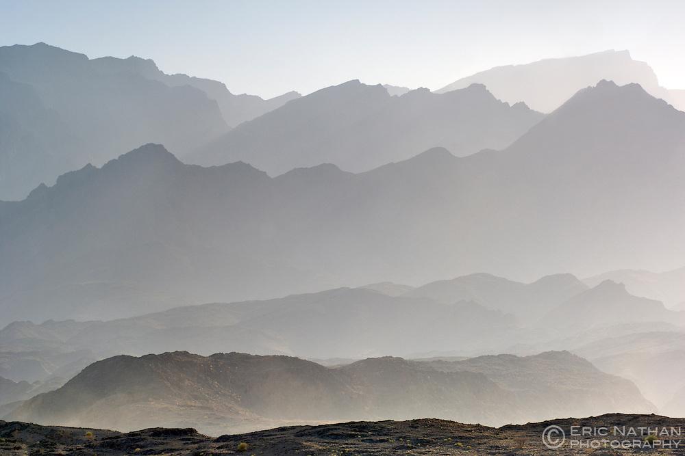 The Al Hajar ash Sharqi mountains in Oman.