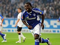 Jubel 1:0 Gerald Asamoah Schalke<br /> Bundesliga FC Schalke 04 - Eintracht Frankfurt<br /> <br /> Norway only