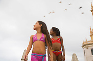 CUBA: Havana. children fashion , deux par deux collection in a flat with a view , on a rofftop Dragones area, Havana CITY center.     / Cuba. La Havane.  mode enfantine collection deux par deux, appartement sur un toit avec vue, quartier de dragones, La Havane centro,     D6Cuba,