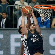 Anadolu Efes's Estaban Batista (F) during their Turkish Basketball League match Anadolu Efes between Bandirma Kirmizi at Sinan Erdem Arena in Istanbul, Turkey, Saturday, December 24, 2011. Photo by TURKPIX