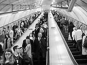 Escalotor, London Underground, Holborn. London. 5 April 2016