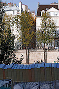 L'Ile Saint-Louis vue du quai de la Tournelle, Paris, Paris-Ile-de-France, France.<br /> L'Ile Saint-Louis seen of the quai de la Tournelle, Paris, Paris-Ile-de-France region, France.