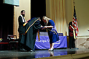 SHOT 5/10/15 3:15:56 PM - Naropa University Spring 2015 Commencement ceremonies at Macky Auditorium in Boulder, Co. Sunday. Parker J. Palmer, a world-renowned author and activist known for his work in education and social change, delivered the commencement speech to more than 300 graduate and undergraduate students along with Naropa faculty and graduate's family members. Naropa University is a private liberal arts college in Boulder, Colorado founded in 1974 by Tibetan Buddhist teacher and Oxford University scholar Chögyam Trungpa. (Photo by Marc Piscotty / © 2014)