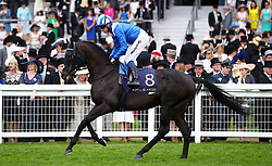 Emaraaty ridden by Jockey Jim Crowley goes to post for the Jersey Stakes