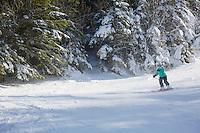 Jessica Laman (age 9) Skiing at Wildcat Mountain, New Hampshire.