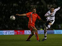 Photo: Steve Bond.<br />Derby County v Luton Town. Coca Cola Championship. 20/04/2007. David Jones tries another long range effort
