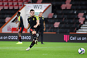 Lewis Cook (16) of AFC Bournemouth warming up ahead of the EFL Cup match between Bournemouth and Crystal Palace at the Vitality Stadium, Bournemouth, England on 15 September 2020.