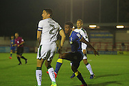AFC Wimbledon striker Dominic Poleon (10) during the EFL Trophy match between AFC Wimbledon and Plymouth Argyle at the Cherry Red Records Stadium, Kingston, England on 4 October 2016. Photo by Stuart Butcher.