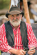 An old cowboy during Cheyenne Frontier Days July 25, 2015 in Cheyenne, Wyoming. Frontier Days celebrates the cowboy traditions of the west with a rodeo, parade and fair.