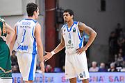 DESCRIZIONE : Eurocup 2014/15 Last32 Dinamo Banco di Sardegna Sassari -  Banvit Bandirma<br /> GIOCATORE : Giacomo Devecchi Edgar Sosa<br /> CATEGORIA : Fair Play<br /> SQUADRA : Dinamo Banco di Sardegna Sassari<br /> EVENTO : Eurocup 2014/2015<br /> GARA : Dinamo Banco di Sardegna Sassari - Banvit Bandirma<br /> DATA : 11/02/2015<br /> SPORT : Pallacanestro <br /> AUTORE : Agenzia Ciamillo-Castoria / Luigi Canu<br /> Galleria : Eurocup 2014/2015<br /> Fotonotizia : Eurocup 2014/15 Last32 Dinamo Banco di Sardegna Sassari -  Banvit Bandirma<br /> Predefinita :