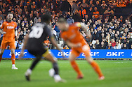 Luton Town fans look on during the first half during the EFL Sky Bet League 1 match between Luton Town and AFC Wimbledon at Kenilworth Road, Luton, England on 23 April 2019.
