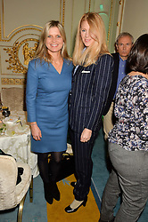 Left to right, the MARCHIONESS OF MILFORD HAVEN and KATY BRAIN at a party to celebrate the publication of The Romanovs 1613-1918 by Simon Sebag-Montefiore held at The Mandarin Oriental, 66 Knightsbridge, London on 2nd February 2016.