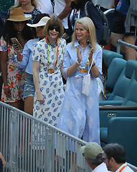 March 22, 2019 - Miami Gardens, Florida, United States Of America - MIAMI GARDENS, FLORIDA - MARCH 22:  Anna Wintour, Blaine Trump on Day 5 of the Miami Open Presented by Itau at Hard Rock Stadium on March 22, 2019 in Miami Gardens, Florida..People: Anna Wintour, Blaine Trump. (Credit Image: © SMG via ZUMA Wire)
