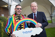 NO FEE PICTURES<br /> 25/1/19 Minister Shane Ross with Eddie McGuinness, The Outing Festival pictured at the Holiday World Show 2019 at the RDS Simmonscourt in Dublin. Picture; Arthur Carron