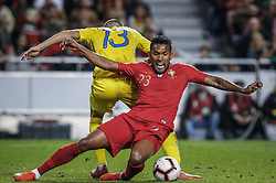 March 22, 2019 - Na - Lisbon, 03/22/2019 - The Portuguese Football Team received their Ukrainian counterpart this afternoon at the Estádio da Luz in Lisbon, in the Group B game, in the qualifying round for the 2020 European Championship. Vitaliy Mykolenko; Diego Sousa  (Credit Image: © Atlantico Press via ZUMA Wire)