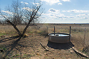 People camping with horses can find campsites with watering troughs in the Packsaddle Wildlife Management Area.