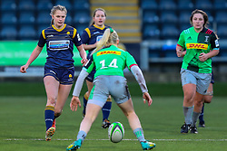 Vicky Laflin of Worcester Warriors Women bears down on Heather Cowell of Harlequins Women  - Mandatory by-line: Nick Browning/JMP - 20/12/2020 - RUGBY - Sixways Stadium - Worcester, England - Worcester Warriors Women v Harlequins Women - Allianz Premier 15s
