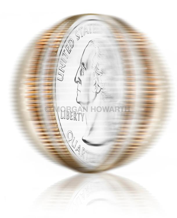 Spinning U.S. coins VA1-803-266