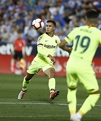 September 26, 2018 - Leganes, Madrid, Spain - Philippe Coutinho (FC Barcelona) during the La Liga match between CD Leganes and FC Barcelona at Butarque Stadium in Leganes. (Credit Image: © Manu Reino/SOPA Images via ZUMA Wire)