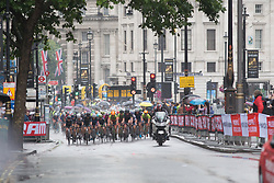 The peloton approaches Charing Cross in the first lap of the Prudential Ride London Classique - a 66 km road race, starting and finishing in London on July 29, 2017, in London, United Kingdom. (Photo by Balint Hamvas/Velofocus.com)
