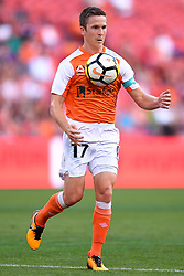 October 22, 2017 - Brisbane, QUEENSLAND, AUSTRALIA - Matt McKay of the Roar (#17) controls the ball during the round three Hyundai A-League match between the Brisbane Roar and the Newcastle Jets at Suncorp Stadium on October 22, 2017 in Brisbane, Australia. (Credit Image: © Albert Perez via ZUMA Wire)
