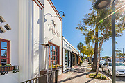 Shops and Restaurants on El Camino Real in San Clemente