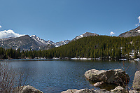 Lily Lake in Rocky Mountain National Park. Image taken with a Nikon D2xs camera and 17-55 mm f/2.8 lens (ISO 100, 17 mm, f/8, 1/250 sec).