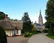 A picturesque scene at The Demesne featuring Deenagh Cottage and St Mary's Cathedral of the street of Killarney town in County Kerry taken in the summer of 2011.<br /> Picture by Don MacMonagle