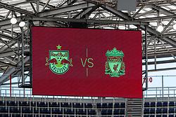 SALZBURG, AUSTRIA - Tuesday, August 25, 2020: The scoreboard before a preseason friendly match between FC Red Bull Salzburg and Liverpool FC at the Red Bull Arena. (Pic by Propaganda)