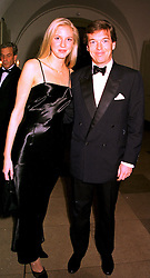 MISS SHELLEY LEWIS and MR CHARLES BUTTER, his mother is a good friend of HM The Queen,  at a dinner in London on 23rd October 1998.MLD 42