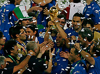 Photo: Glyn Thomas.<br /> Italy v France. FIFA World Cup 2006 Final. 09/07/2006.<br /> Italy celebrate with the World Cup.