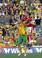 Photo: Ashley Pickering.<br /> Norwich City v Bristol City. Coca Cola Championship. 20/10/2007.<br /> Louis Carey of Bristol (R) gets the better of John Hartson of Norwich