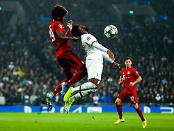 Kingsley Coman of Bayern Munich is challenged by Danny Rose of Tottenham Hotspur - Rogan/JMP - 01/10/2019 - FOOTBALL - Tottenham Hotspur Stadium - London, England - Tottenham Hotspur v Bayern Munich - UEFA Champions League Group B.