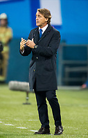 ST PETERSBURG, RUSSIA - SEPTEMBER 28, 2017. 2017-18 UEFA Europa League Group L Round 2 football match at Saint Petersburg Stadium: Zenit (St Petersburg) 3 - 1 Real Sociedad (San Sebastian). St Petersburg's head coach Roberto Mancini.