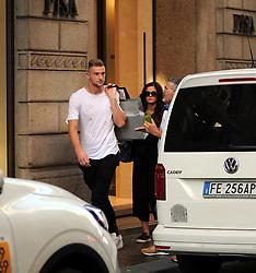 Milan Skriniar and girlfriend in shopping center
