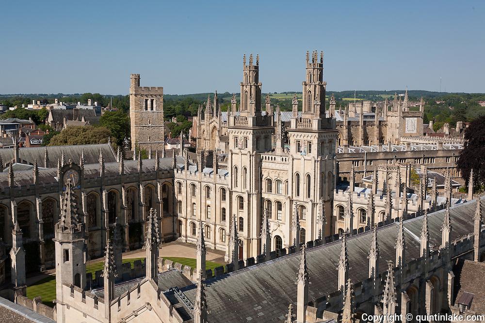 All Souls College, North Quadrangle, Oxford Built by 1716-34 by Architect: Nicholas Hawksmoor