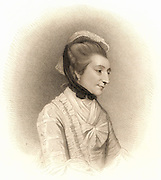 Mrs Montagu. Elizabeth Montagu (born Elizabeth Robinson -1720-1800) English writer, heiress and society hostess called the Queen of the Blues.  A member of the Blue Stocking Circle of learned and intelligent women who met in London in second half of 18th century. Stipple engraving (London,1809).