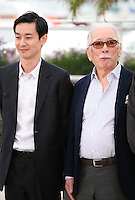 Actors Ryo Kase and Tadashi Okuno, at the Like Someone In Love film photocall at the 65th Cannes Film Festival France. Monday 21st May 2012 in Cannes Film Festival, France.