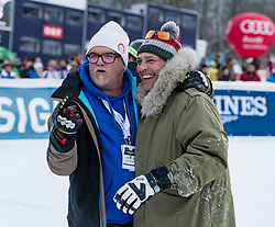 20.01.2018, Hahnenkamm, Kitzbühel, AUT, FIS Weltcup Ski Alpin, Kitzbuehel, Kitz Charity Trophy, im Bild v.l.: Gerri Friedle, Gregor Bloeb // f.l.: Gerri Friedle Gregor Bloeb during the Kitz Charity Trophy of the FIS Ski Alpine World Cup at the Hahnenkamm in Kitzbühel, Austria on 2018/01/20. EXPA Pictures © 2018, PhotoCredit: EXPA/ Stefan Adelsberger