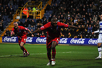 Photo: Tony Oudot/Sportsbeat Images.<br /> Queens Park Rangers v Crystal Palace. Coca Cola Championship. 04/12/2007.<br /> Clinton Morrison of Crystal Palace celebrates their second goal