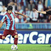 Trabzonspor's Gustavo COLMAN during their UEFA Champions League group stage matchday 2 soccer match Trabzonspor between Lille at the Avni Aker Stadium at Trabzon Turkey on Tuesday, 27 September 2011. Photo by TURKPIX