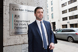 © Licensed to London News Pictures. 21/03/2016. London, UK. STEPHEN CRABB, the new Secretary of State for Work and Pensions arrives for the first day in his new role at the Department for Work and Pensions in Westminster, London. Photo credit : Vickie Flores/LNP