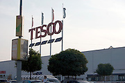 Tesco supermarket carrying food clothing electronics and etc. Balucki District Lodz Central Poland
