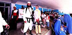 ..KABUL 25 August 2005, Kash with an Iranian Journalist covering the Special Olympics Games in Afghanistan