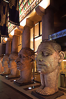 Dotonbori Hotel has an amazing entrance featuring four columns with faces showing the special qualities in human beings. The face columns act as a landmark and define the hotel's traditional architecture.